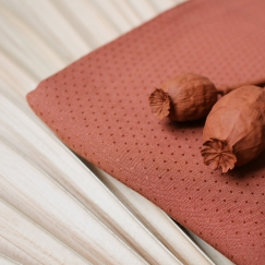Dobby Chestnut Fabric
