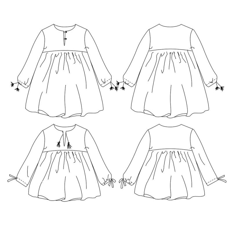 Camelia Blouse & Dress (3-12 years)