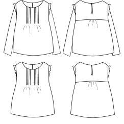Hellebore blouse