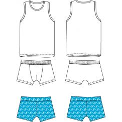 Sebastien Underwear set & Swimsuit 3-12 yo