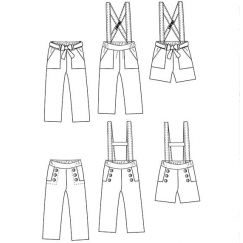Avana pants & shortpants 3-12 yo