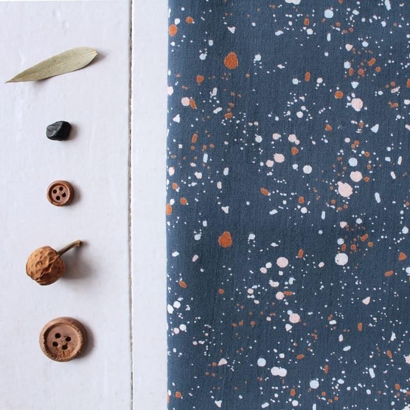 tissu terrazzo night atelier brunette. Black Bedroom Furniture Sets. Home Design Ideas