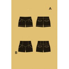 Chataigne shorts Pattern