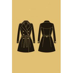 Luzerne trench coat pattern