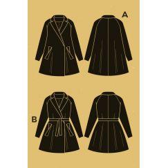Opium coat pattern