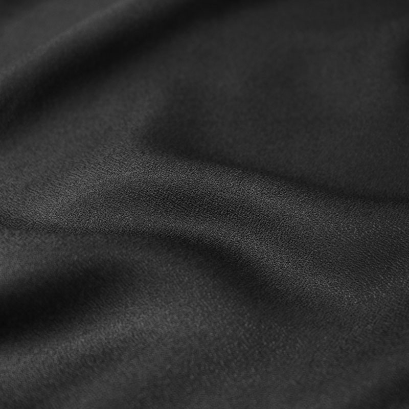 """Crêpe Black"" Fabric Remnants"
