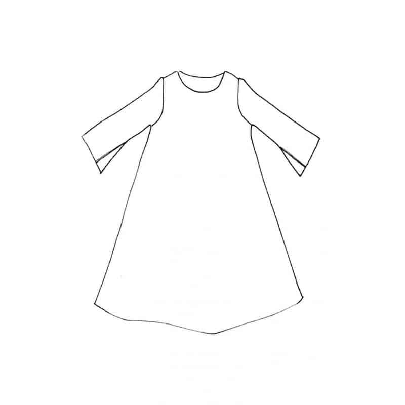 Robe Trapeze Patron De Couture Merchant Mills
