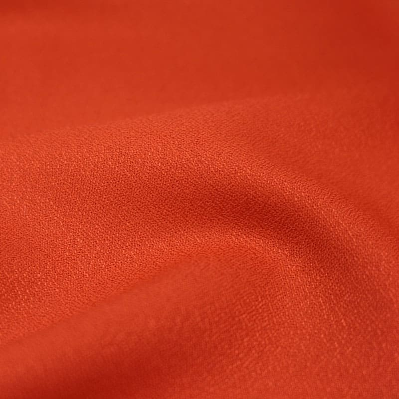 Crepe Tangerine Fabric Remnants