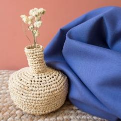 Linen Cobalt Fabric