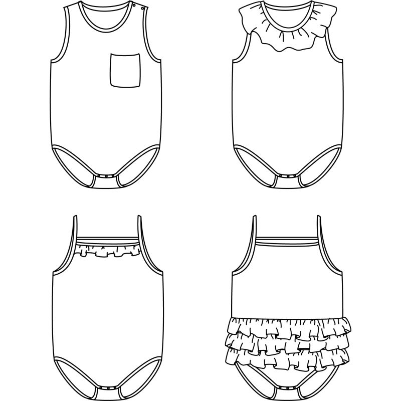 Malaga Bodysuit (1 month - 4 years)