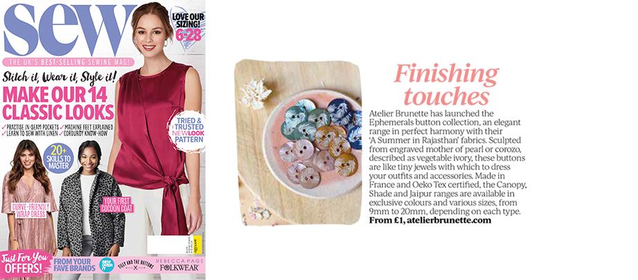 Sew Magazine - Atelier Brunette Buttons
